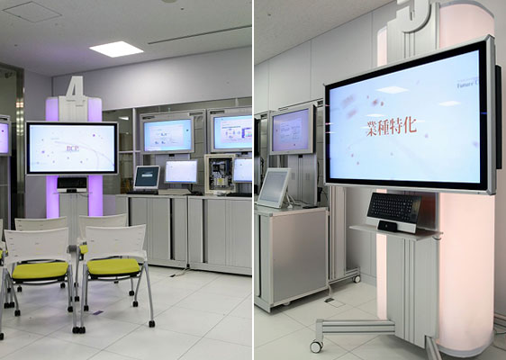 NTT EAST SOLUTION SQUARE / Production of Display Fixtures